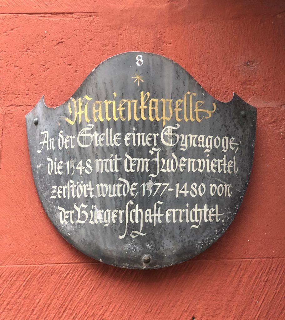 Marienkapelle Eingangsschild