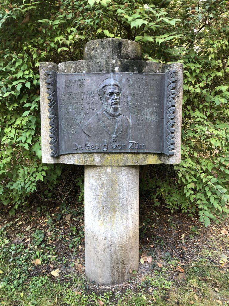 Gedenkstein Zürn im Ringpark