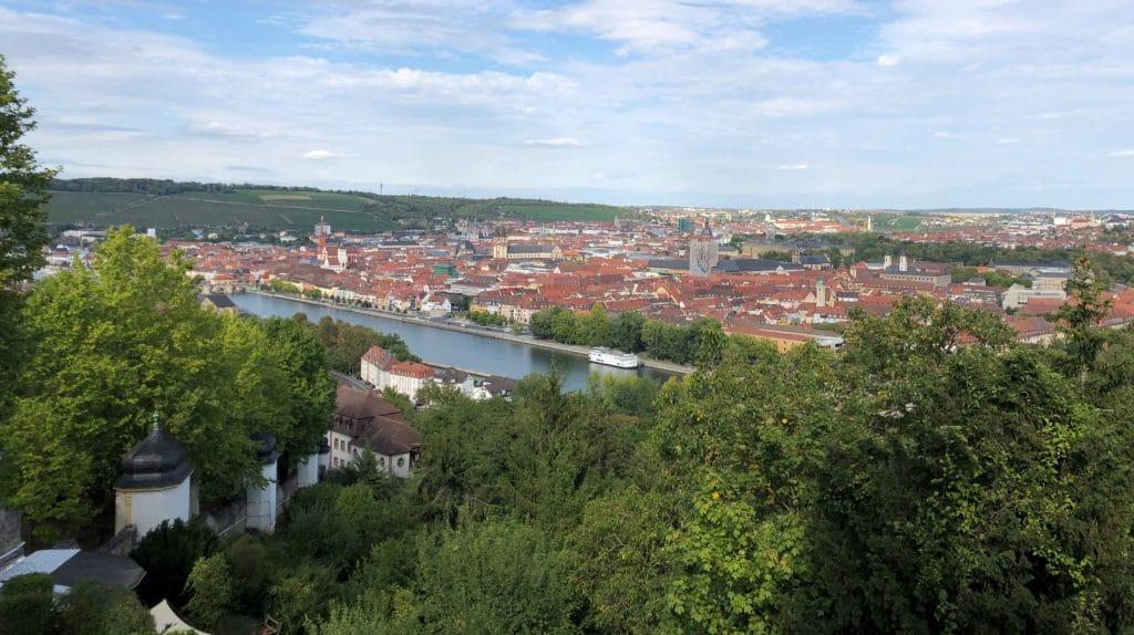 Innenstadt Würzburg von oben