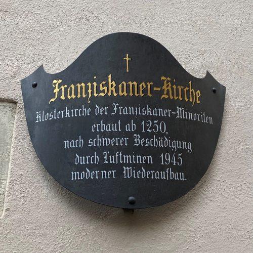 Franziskaner Schild