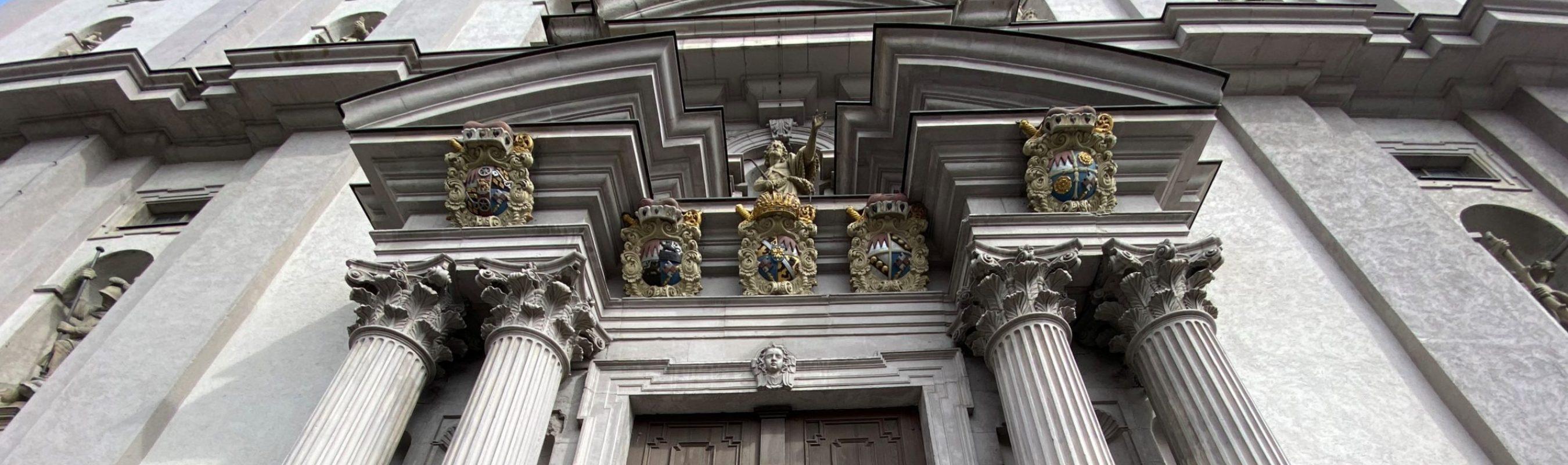 Stift Haug Eingangssäulen Banner